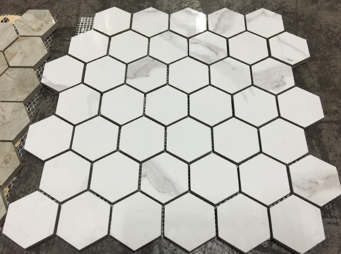 hexagon shower tiles tile calacutta