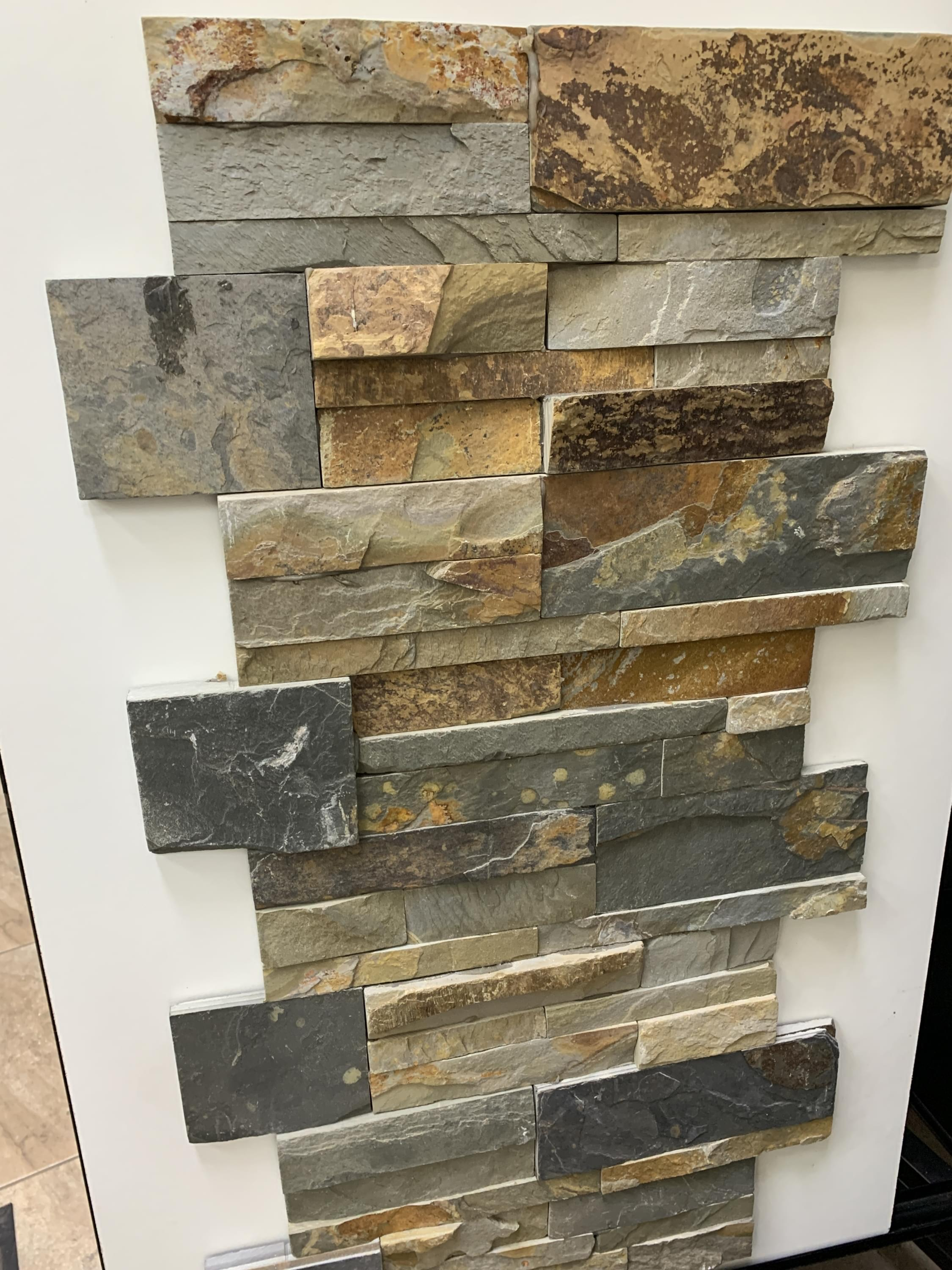 Stack Stone Fireplace Stone Wall